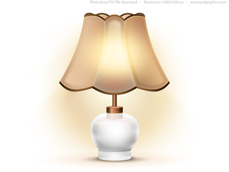 Table lamp clipart.