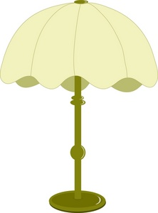 Table with lamp clipart.