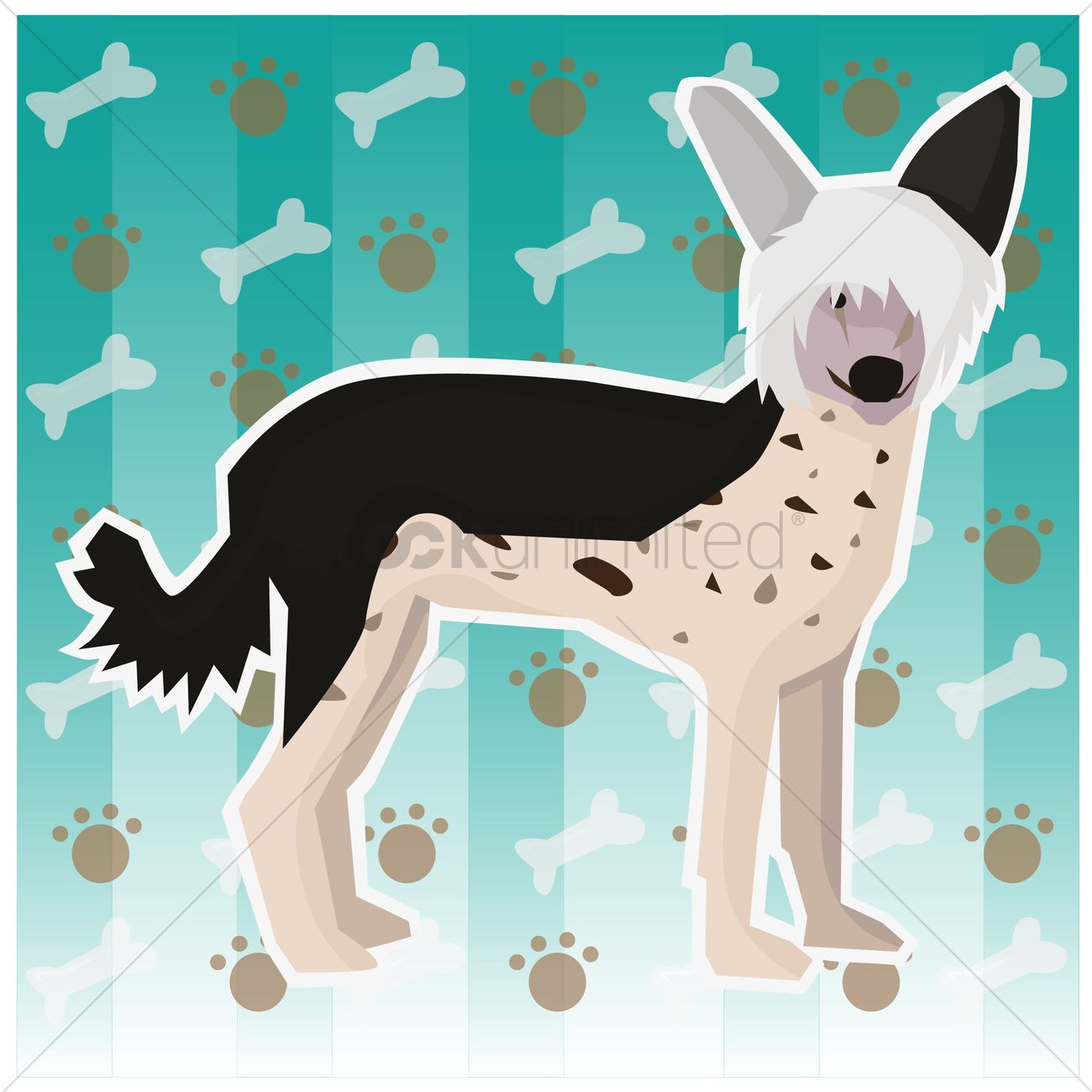Free Bedlington terrier dog Vector Image.