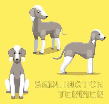 Bedlington Terrier Clip Art, Vector Images & Illustrations.