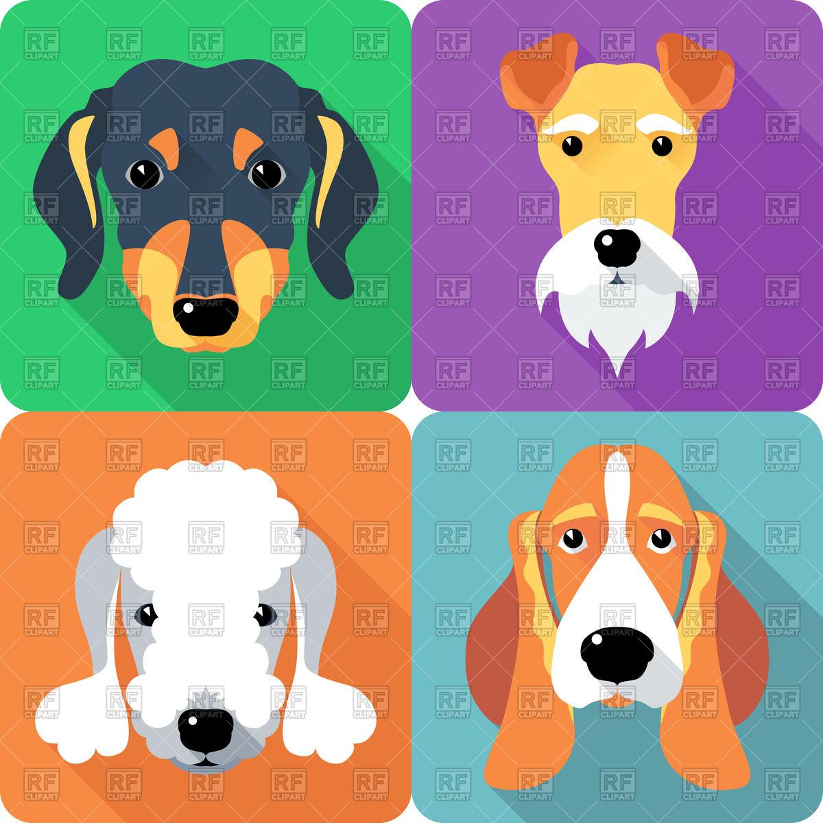 Bedlington terrier clipart.