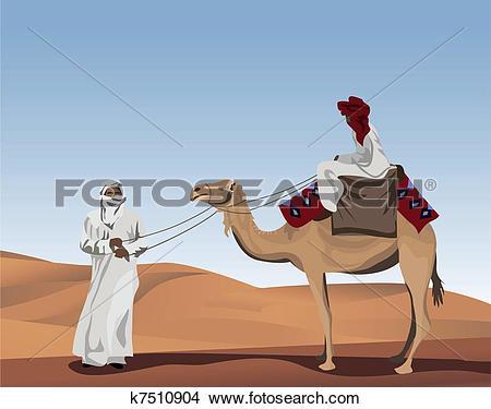 Clip Art of Bedouins k7510887.
