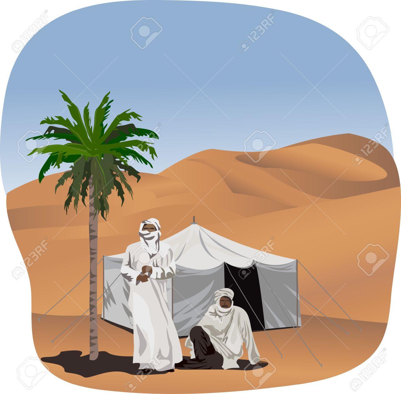 Bedouin tent clipart.