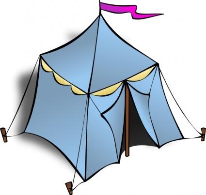 Tent clip art free vector.