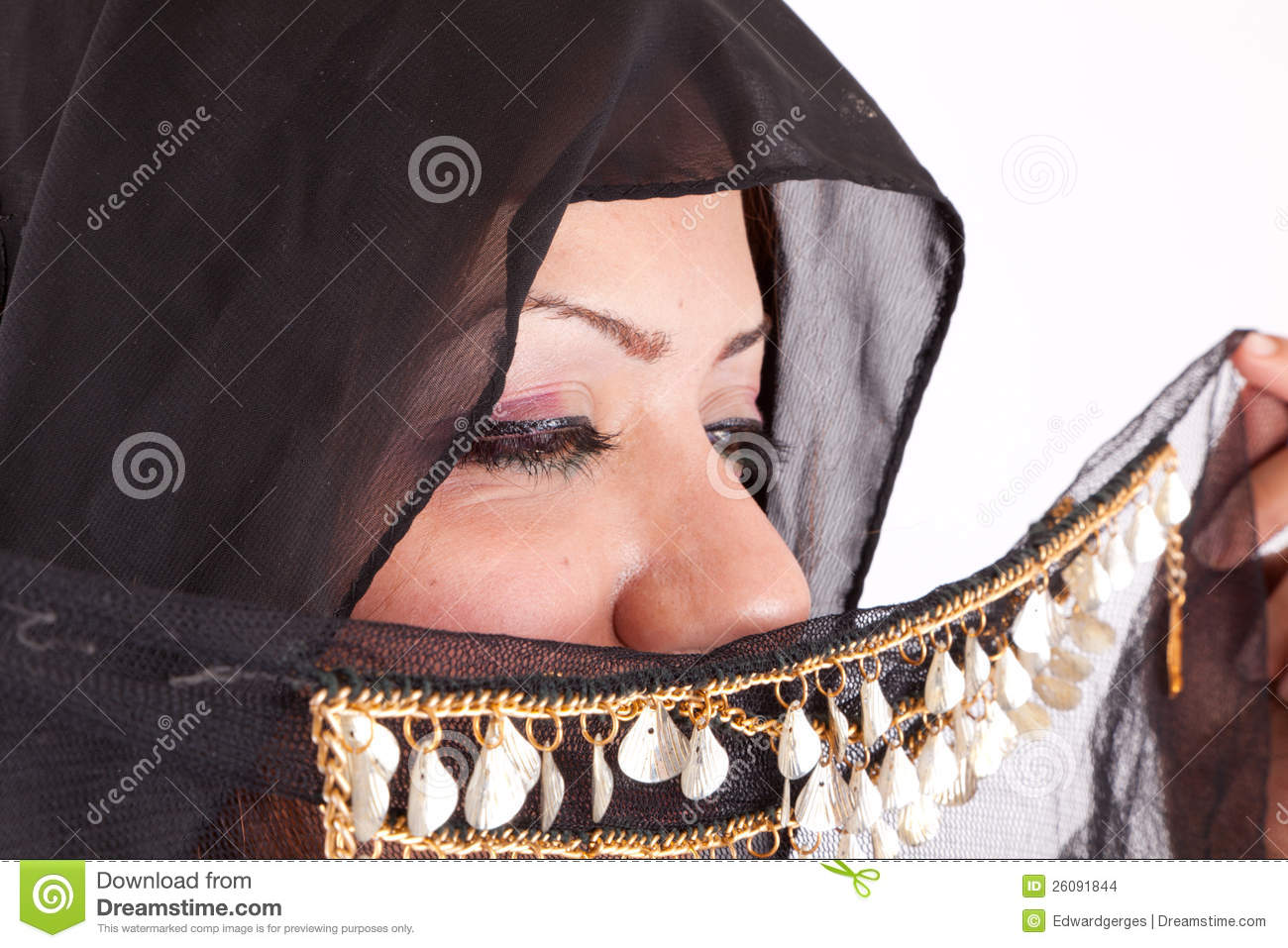 Beautiful Bedouin Woman Stock Images.