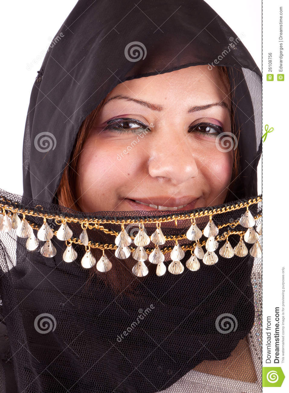Beautiful Bedouin Woman Royalty Free Stock Image.