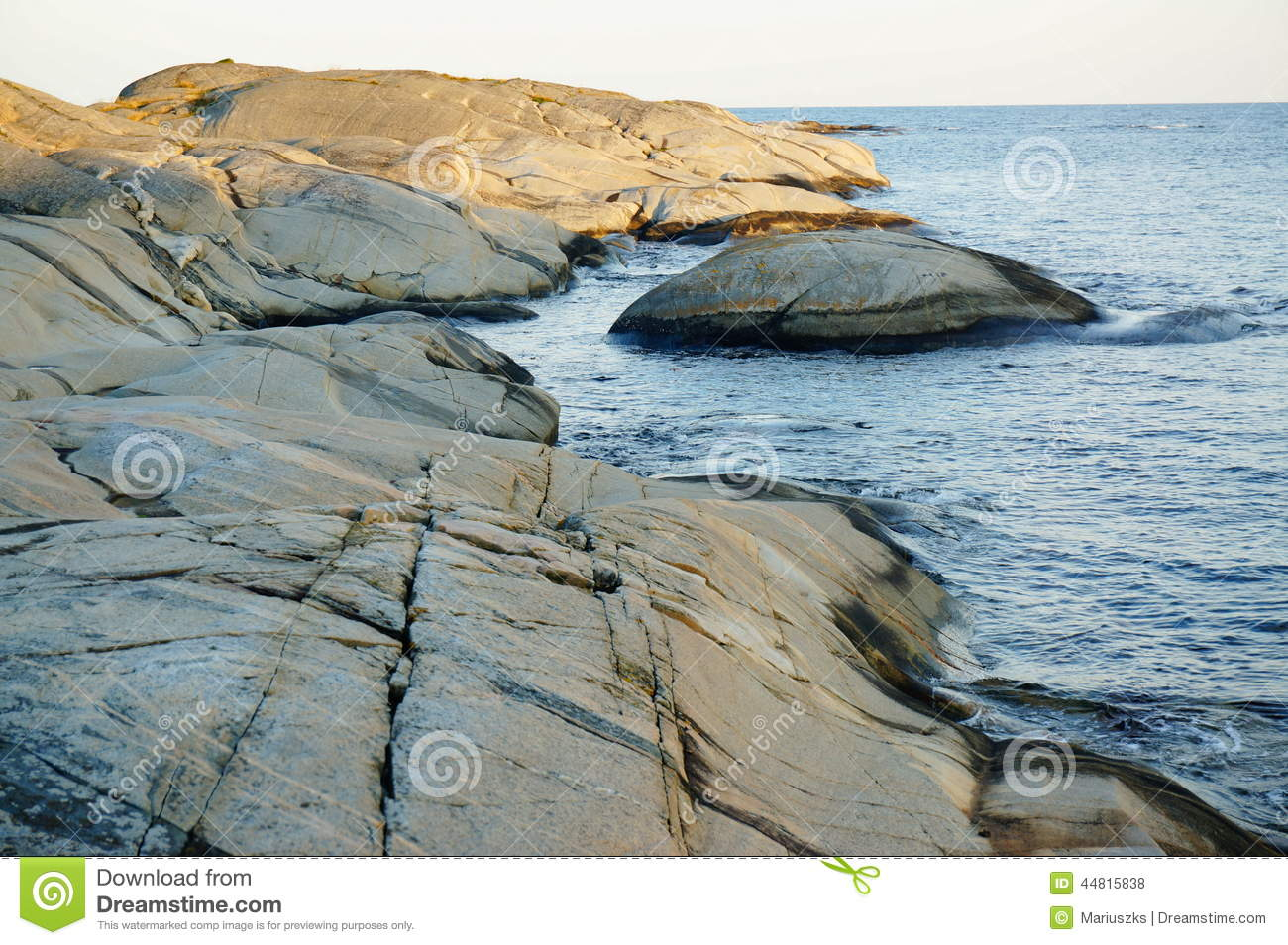Stangnes Bedrock And Noth Sea, Norway Stock Photo.