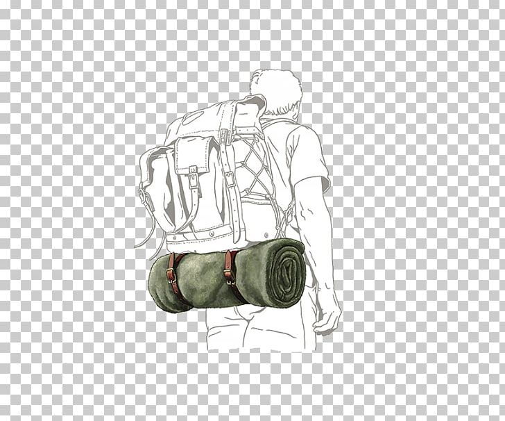 Cowboy Bedroll Frost River Strap Camping Backpack PNG.