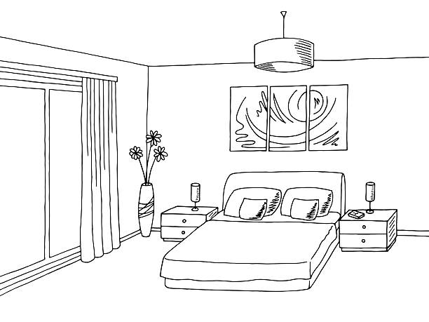 Bedroom clipart black and white 1 » Clipart Station.