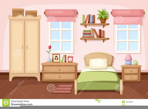 Master Bedroom Clipart.