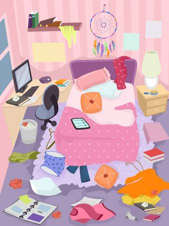 247 Messy Bedroom Cliparts, Stock Vector And Royalty Free Messy.