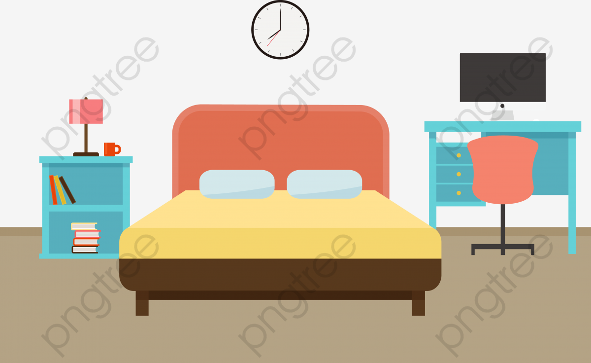 Bedroom Furniture, Furniture Vector, Furniture Clipart, Table Lamp.