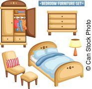 Bedroom furniture Vector Clip Art Royalty Free. 14,661 Bedroom.