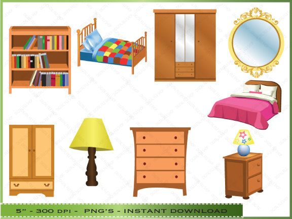 furniture clipart digital clip art bedroom commercial the pictionary.
