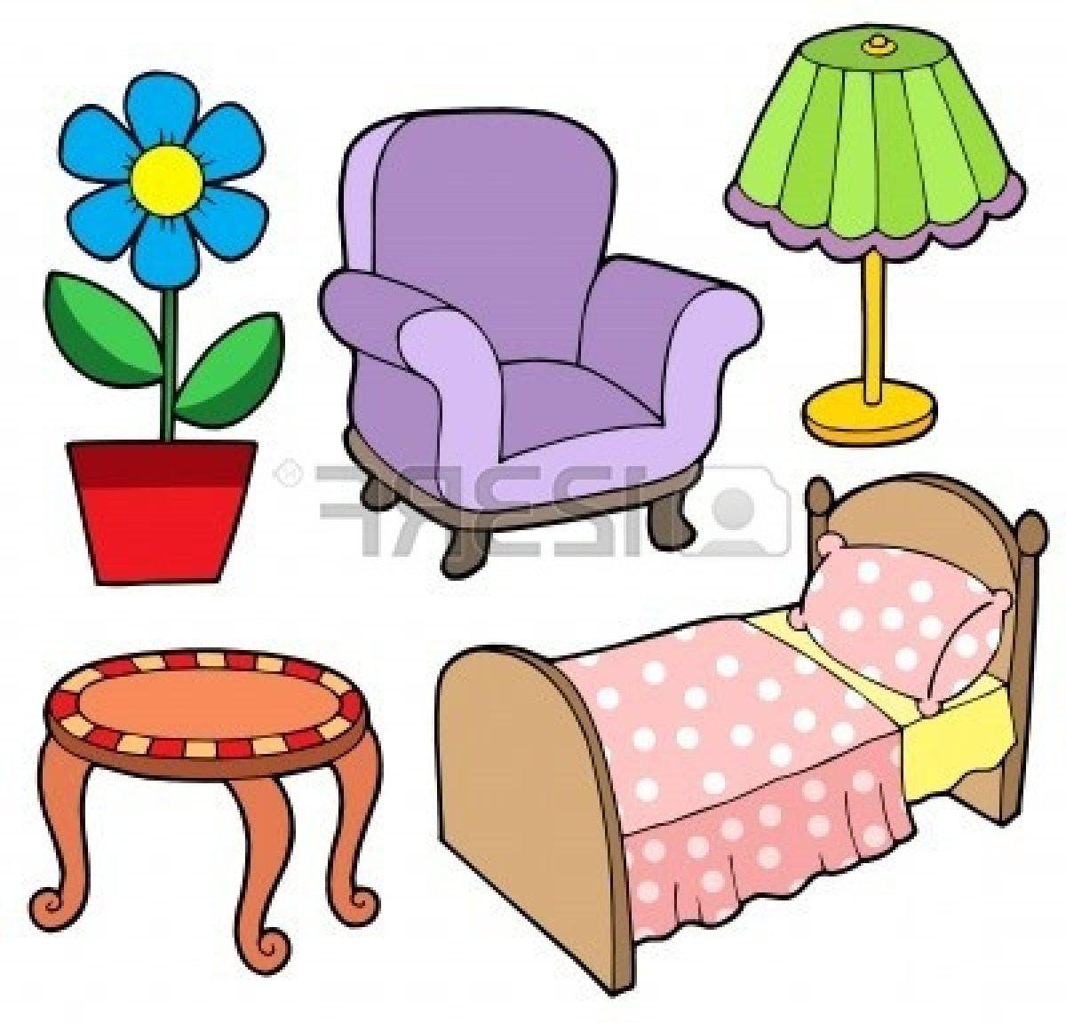 Bedroom Furniture Clipart.