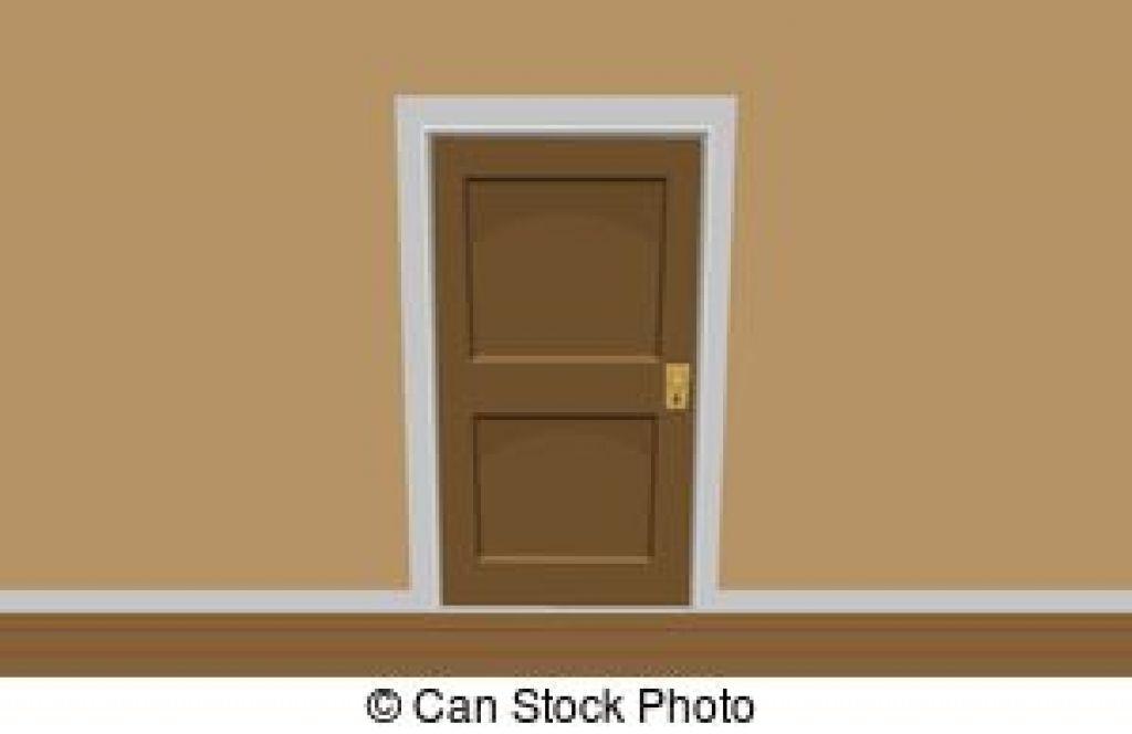 Bedroom Door Clipart.
