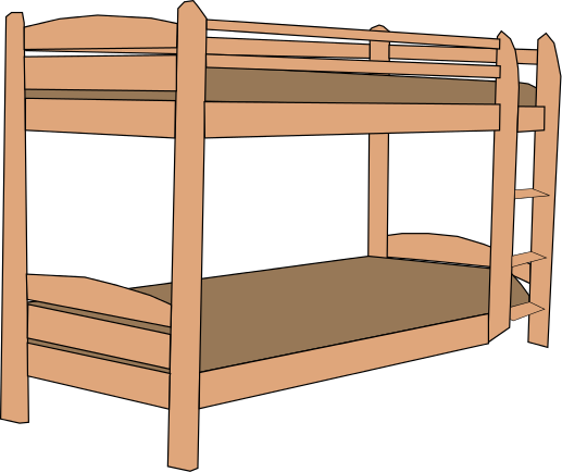 Bunk Bed Clipart.