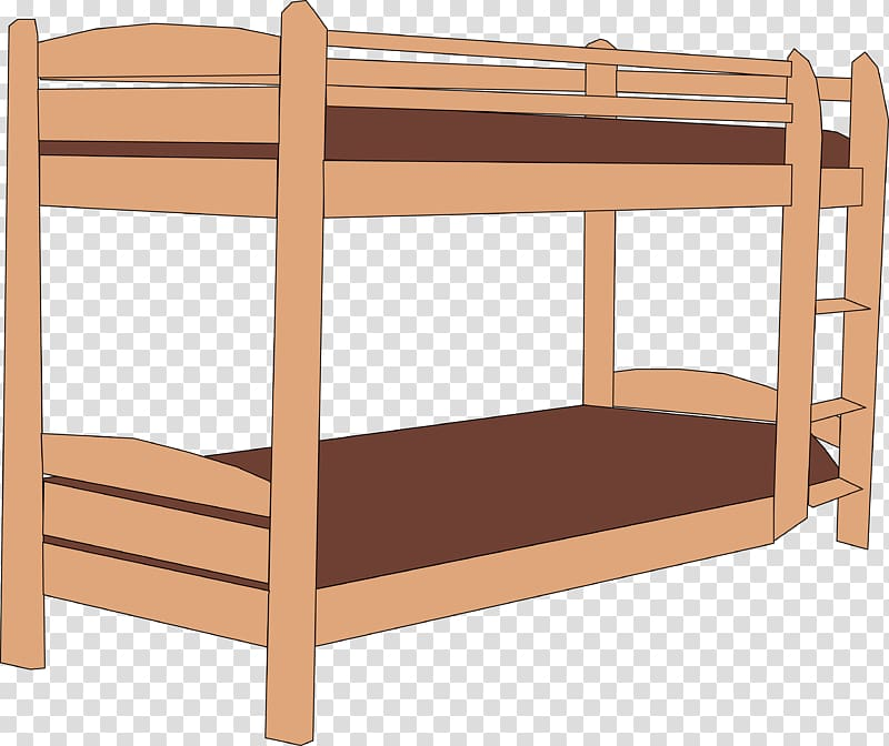 Bunk bed Bedroom , on the bed transparent background PNG.
