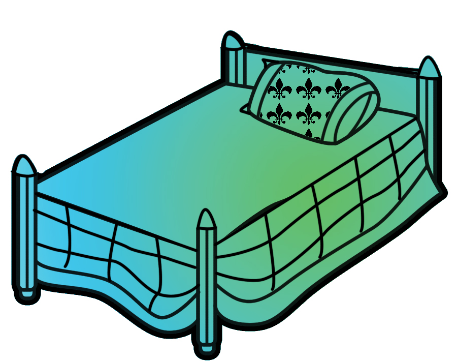Free clip art images of beds dromgbd top.