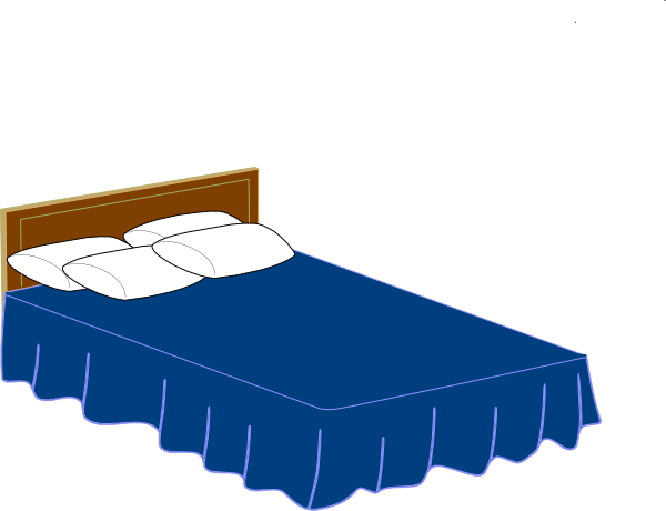 Cartoon Bed Clipart.