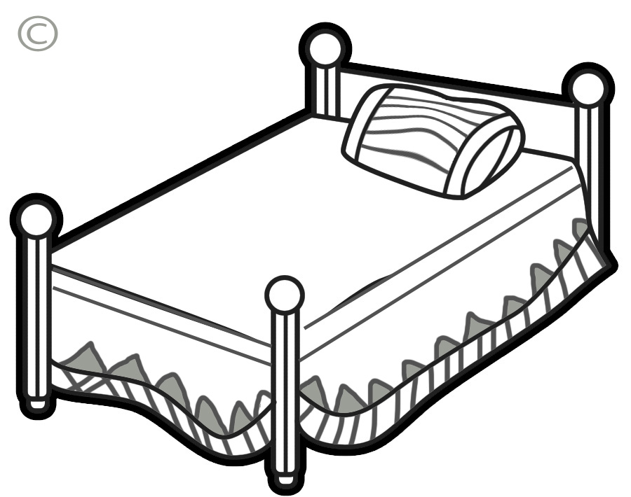 Clipart beds free.