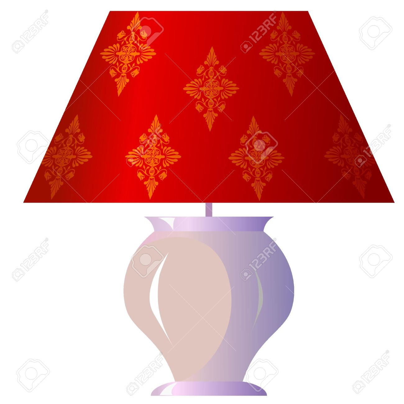 Lamp For The Bedroom Royalty Free Cliparts, Vectors, And Stock.