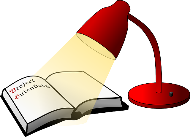 Free vector graphic: Reading Lamp, Book, Lamp, Light.