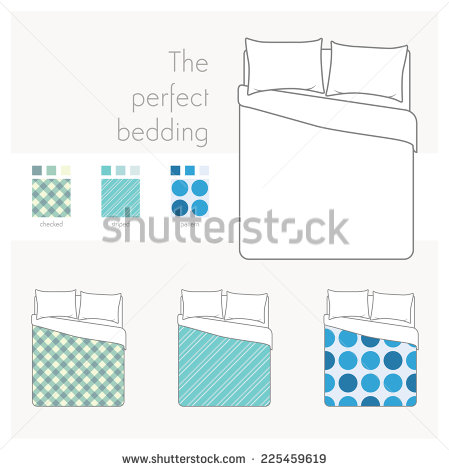 Bedspread Stock Photos, Royalty.