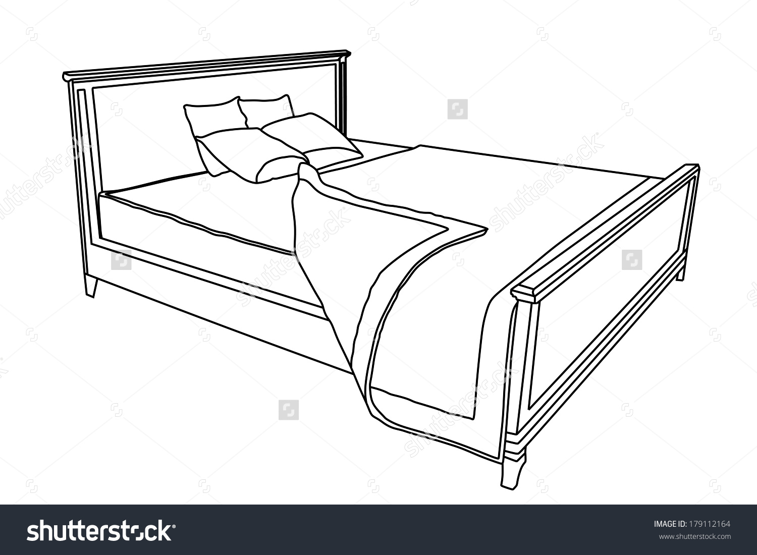 Bed Vector Icon Bedspread Isolated On Stock Vector 179112164.