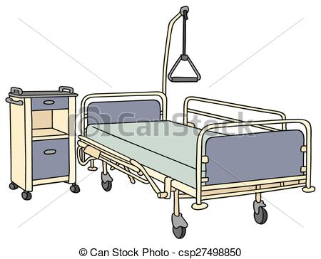 Clipart Vector of Hospital bed.