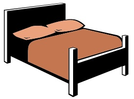 Queen Bed Clipart.