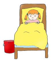 Queen Bed Clipart.