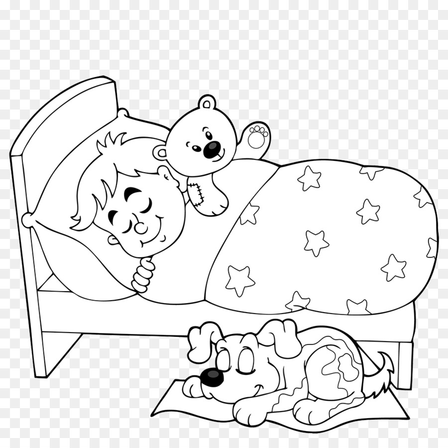 Sleeping Moon Clipart Black And White.