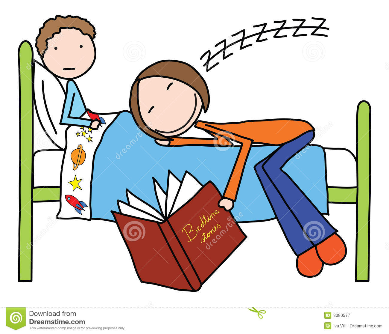 Bedtime story clip art free.