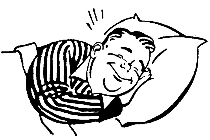 Bedtime clipart black and white, Bedtime black and white.