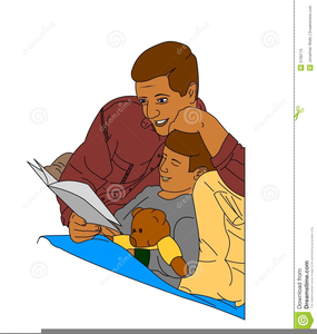 Free Clipart Bedtime Story.