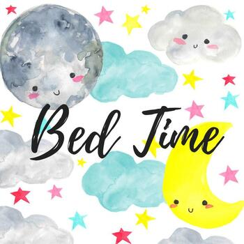 watercolor bedtime clipart.