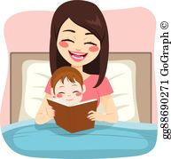 Royalty Free Bedtime Story Clip Art.