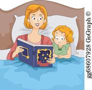 Bedtime Story Clip Art.