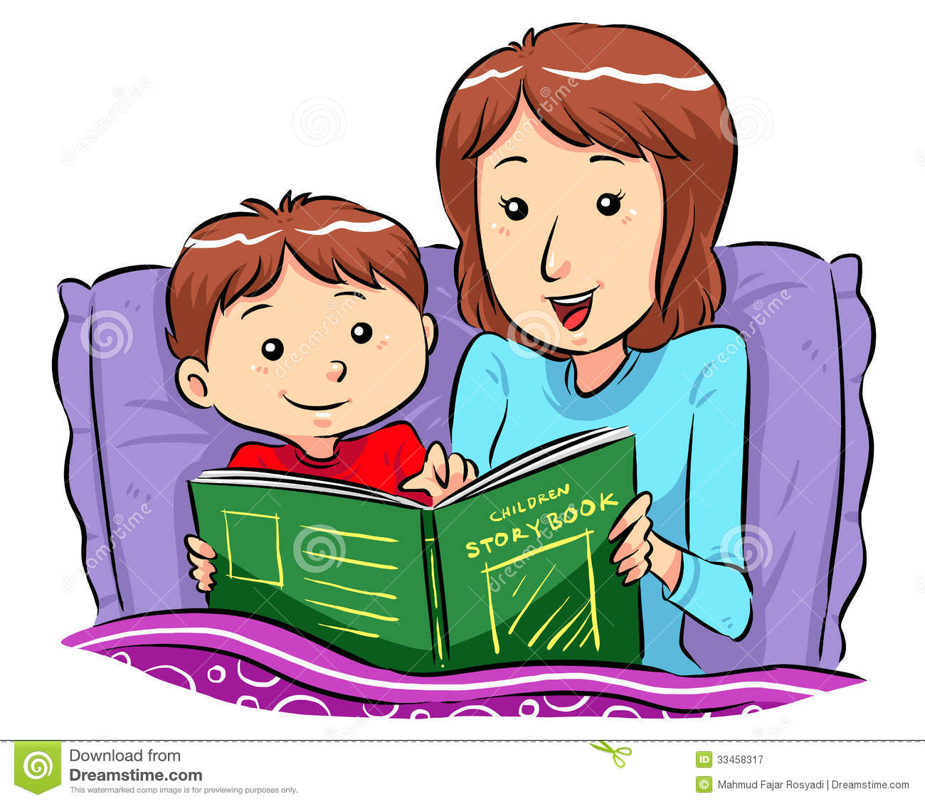 Bedtime Story Clipart.