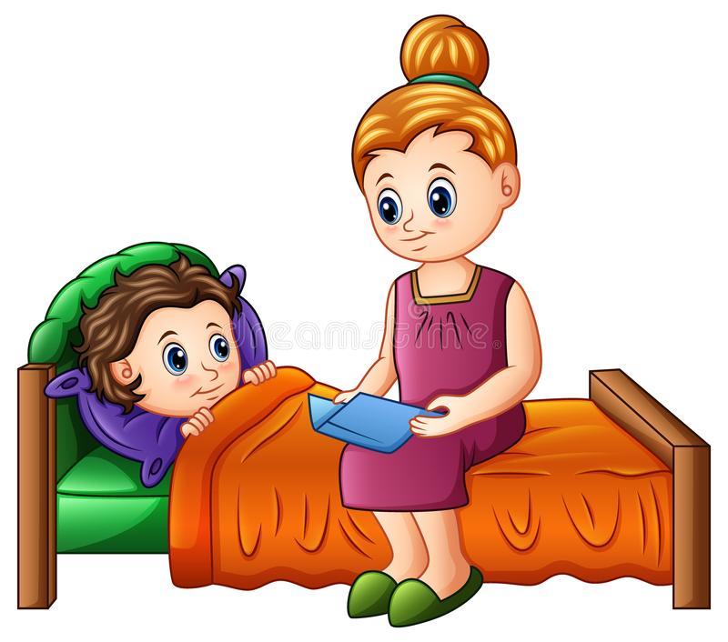 Bedtime Story Stock Illustrations.