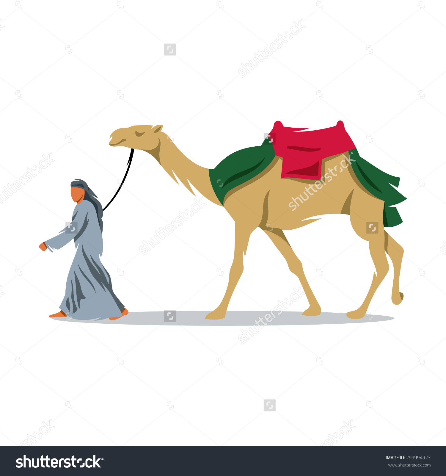 Cameleer Sign Arab Bedouin Camel Desert Stock Vector 299994923.