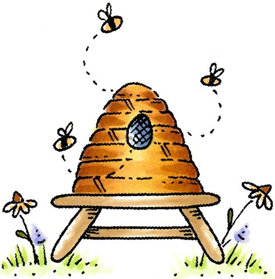 Bees clipart beehive #56.