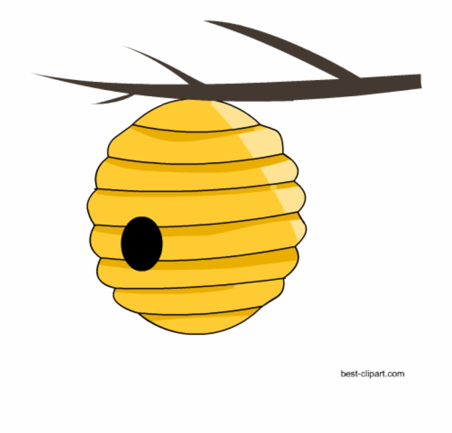 Beehive Clipart Free Honey Bee And Beehive Clip Ar.