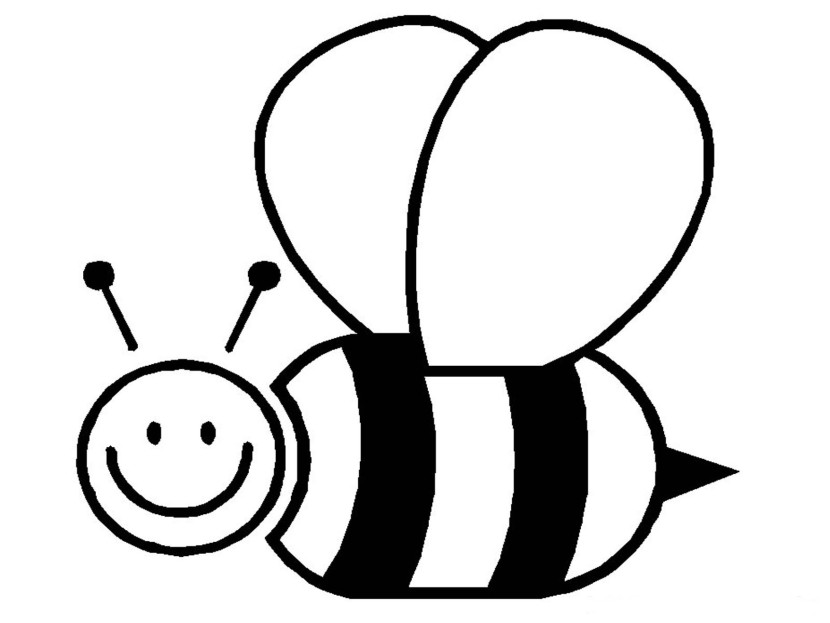 Bee black and white clipart 1 » Clipart Station.