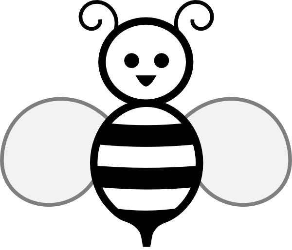 Black And White Bee Clip Art at Clker.com.