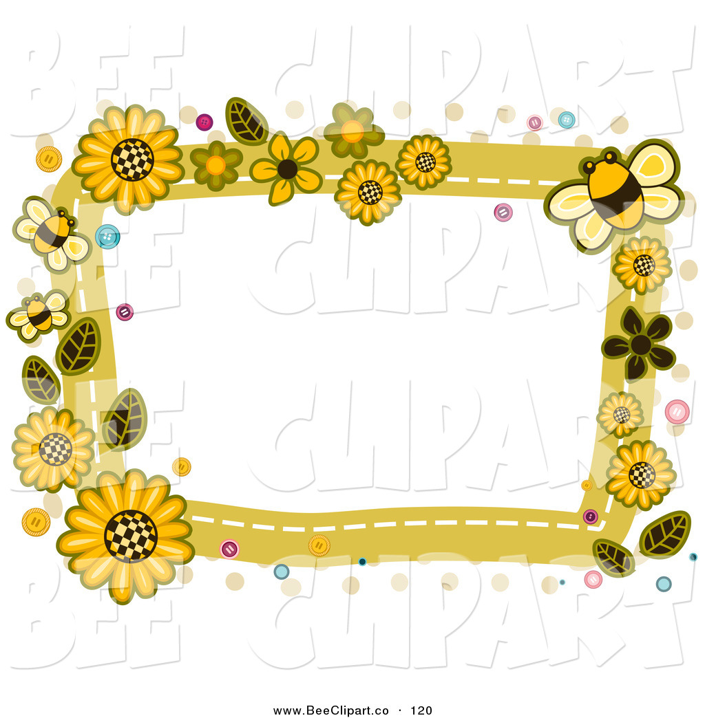 Clipart bee border.