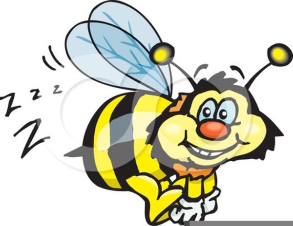 Bee Buzzing Clipart.