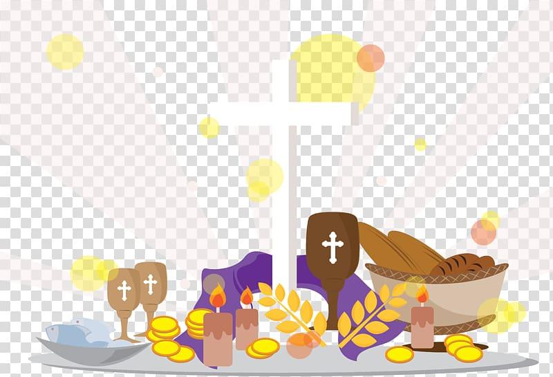Catholicism Catholic Church Lent Easter, Church food coin.