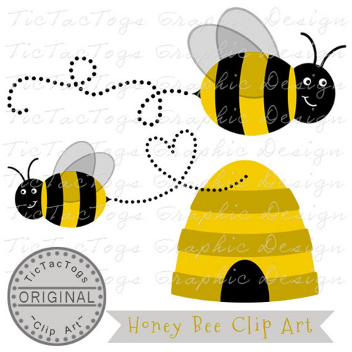 Bee Clip Art, Bumble Bee Clipart, Digital Bee, Honey, Personal and CU.